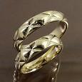 イエローゴールドK18キルティング 結婚指輪